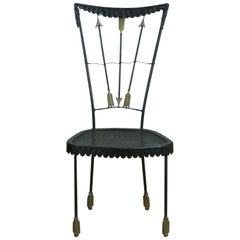 Tomaso Buzzi Surrealist Arrow Motif Chair