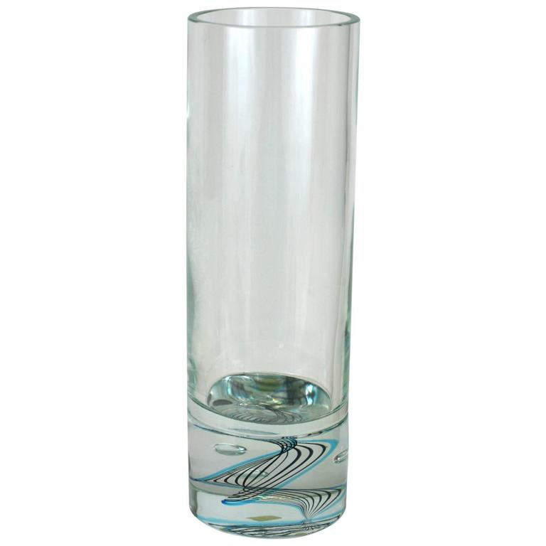 Cartier Cylindrical Crystal Vase For Sale At 1stdibs