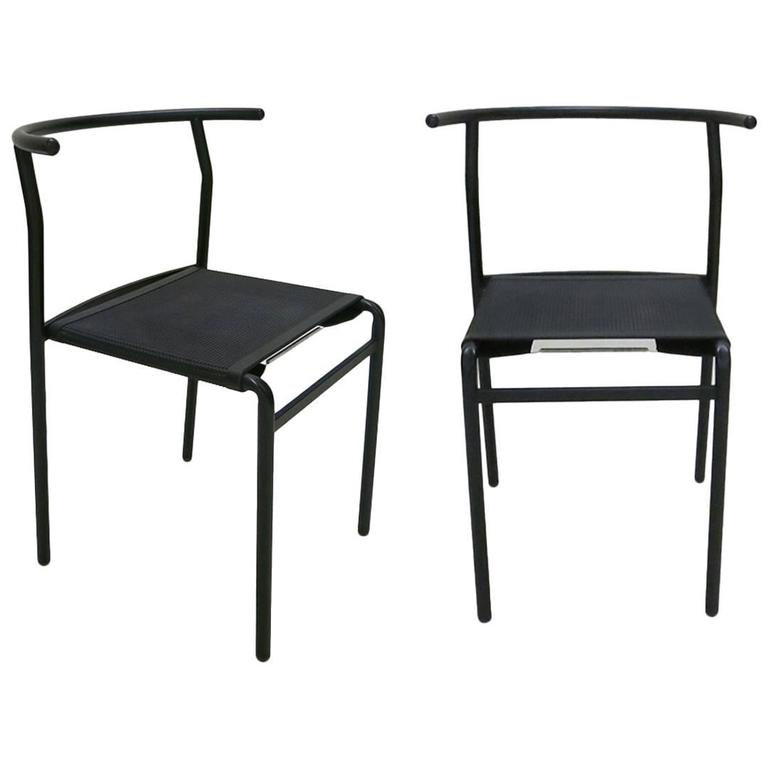 Beau Pair Of Stacking Chairs By Philippe Starck For Baleri, Italia, 1984 For Sale