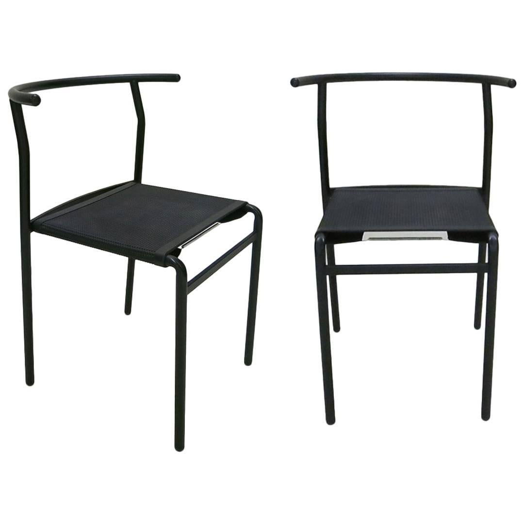 Pair of Stacking Chairs by Philippe Starck for Baleri, Italy 1984