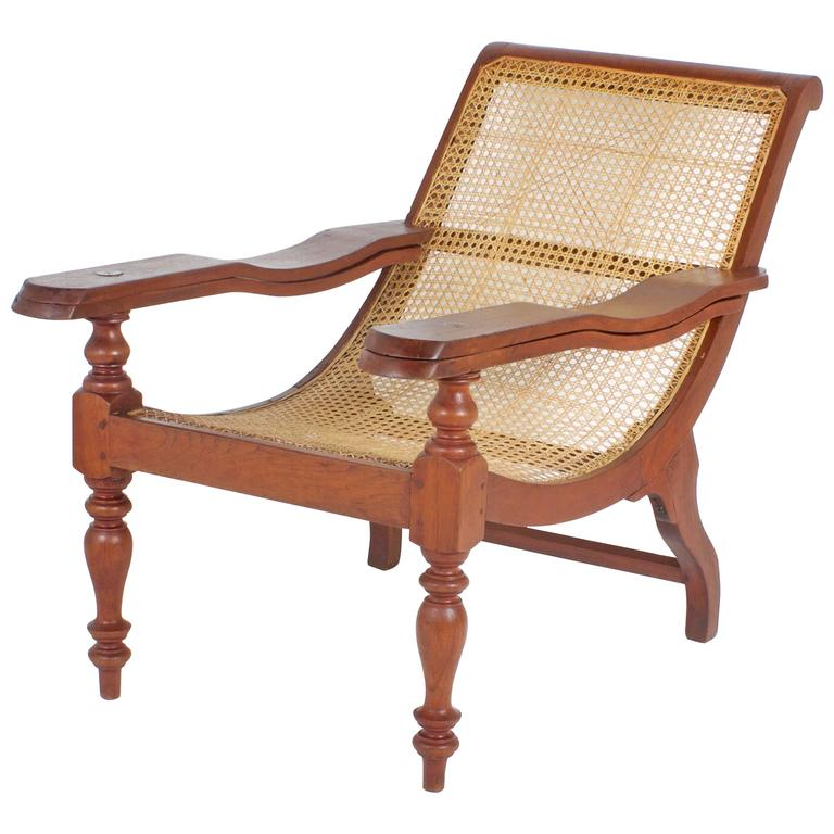 Antique Mahogany Caned Plantation Chair 1 - Antique Mahogany Caned Plantation Chair At 1stdibs