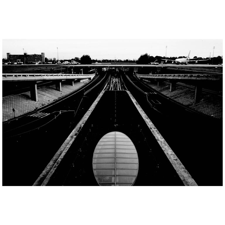 Black and White Photo of Paris by Joachim Lapotre, Signed Fine Art Print