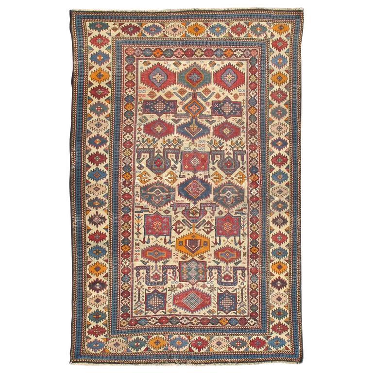 Antique Shirvan Caucasian Rug 1