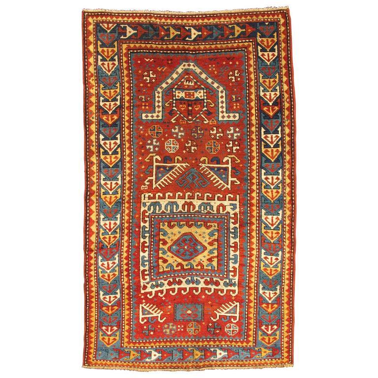 Antique Russian Caucasian Kazak Rug 1