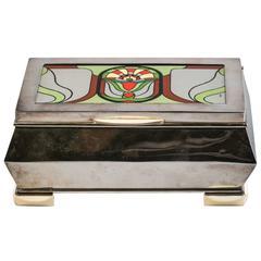 German Silver Art Deco Box, circa 1920