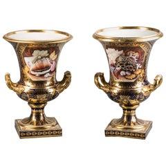 Pair of English Porcelain Vases, Derby, circa 1820