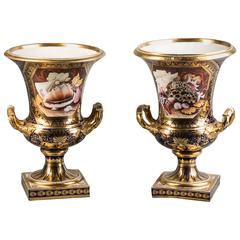 Pair of English Porcelain Vases, Derby, circa 1820