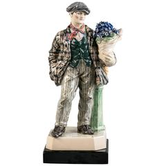 Charles Vyse Studio Pottery Figure