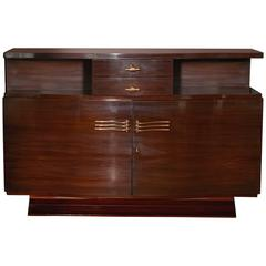 Art Deco Rosewood Sideboard with Bow Fronted Design