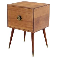One Door Solid Birch Stand End Table