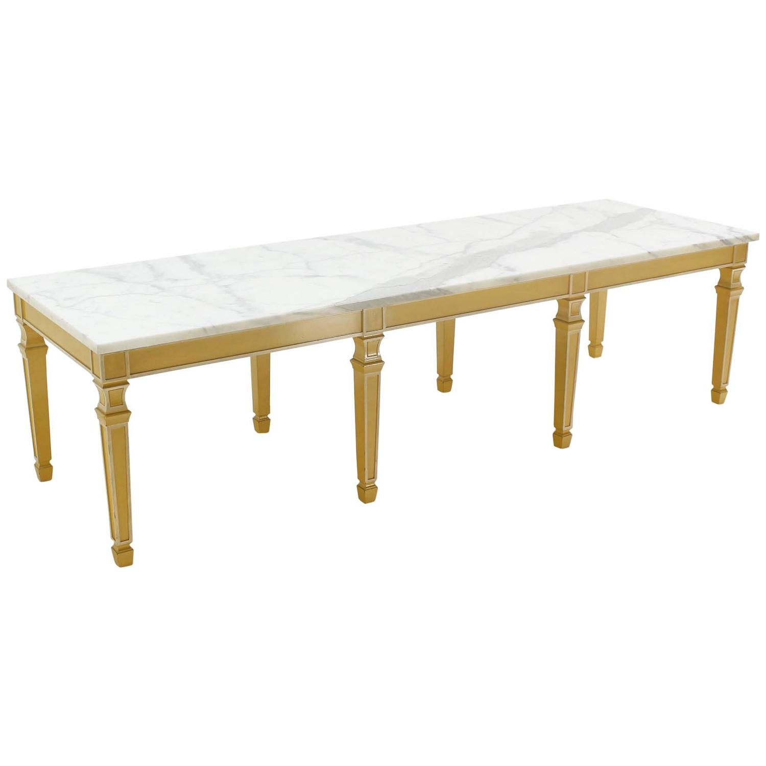 Six legged marble top rectangular coffee table for sale at for Marble top coffee table rectangle