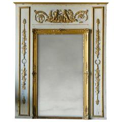 Antique Louis XVI Style French Trumeau, circa 1890