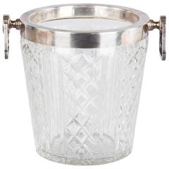 French Cut-Glass Champagne Bucket, 20th Century