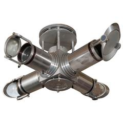 Space Age Style 'Telescope' Four-Arm Light Fixture