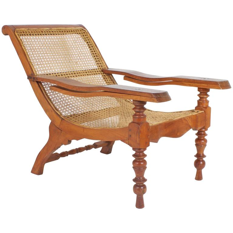 Beau Antique Mahogany Plantation Chair