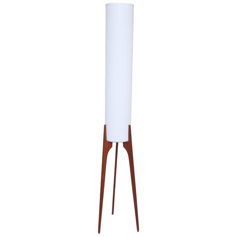 1960s narrow danish teak floor lamp with tripod legs and white 1960s narrow danish teak floor lamp with tripod legs and white linen shade for sale mozeypictures Gallery