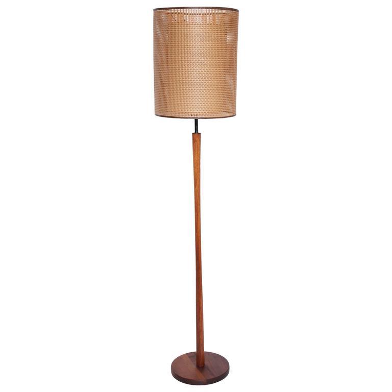 Jane and Gordon Martz for Marshall Studios Teak and Brass Five Socket Floor Lamp
