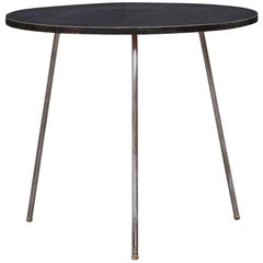 Rare 1950s Black Lacquered Wooden Side Table by Egon Eiermann