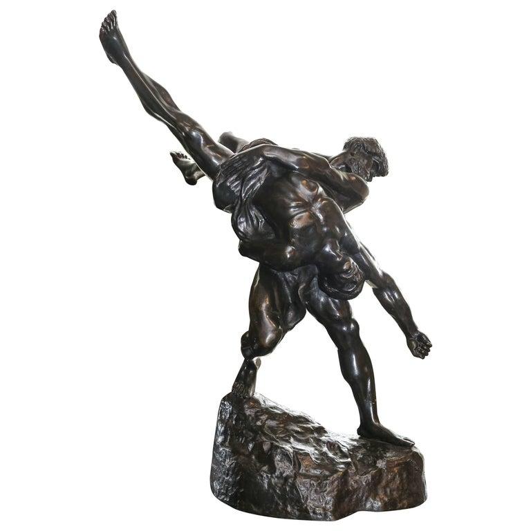 Olympians Bronze Sculpture by Jef Lambeaux For Sale