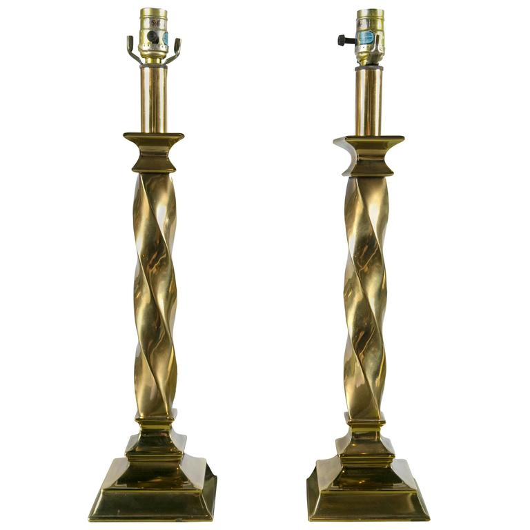 Pair of Stiffel Lamps For Sale