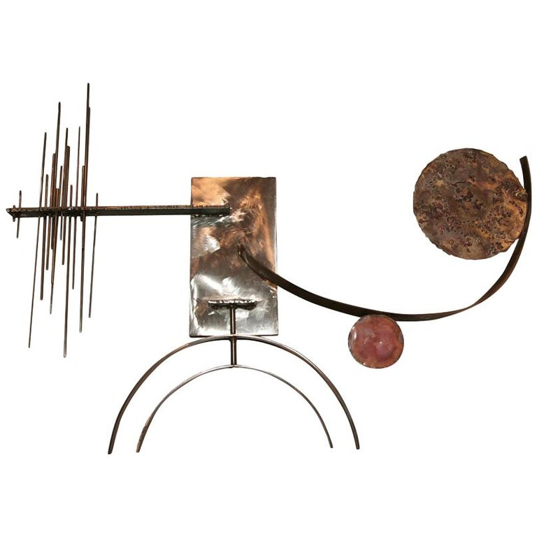 Silas Seandel Mid-Century Modern Abstract Wall Sculpture 1