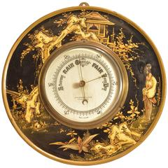 Early 20th Century English Chinoiserie Barometer
