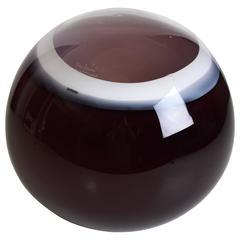 Barbini-Murano Glass Ball Lamp