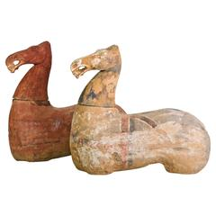 Pair of Authentic Han Dynasty Terracotta Horses