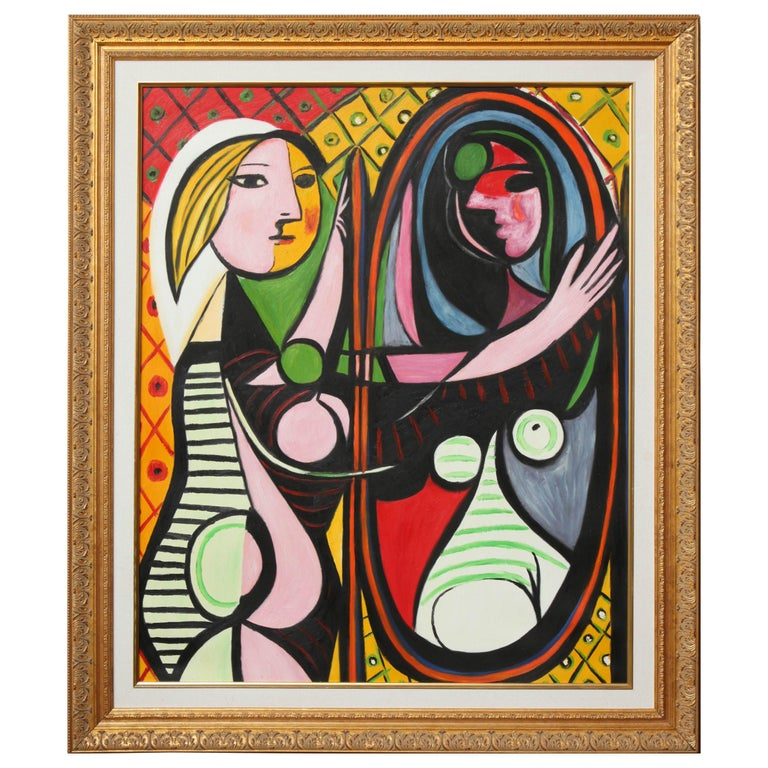 "Copy of Picasso Painting, ""Girl Before a Mirror"" For Sale"