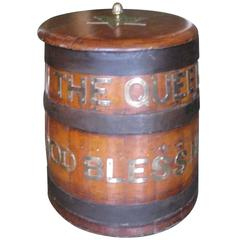 "Ship's Biscuit Barrel ""The Queen God Bless Her"""