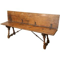 Early 18th Century Italian Walnut Bench