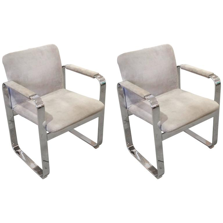 Pair of Italian Armchairs For Sale
