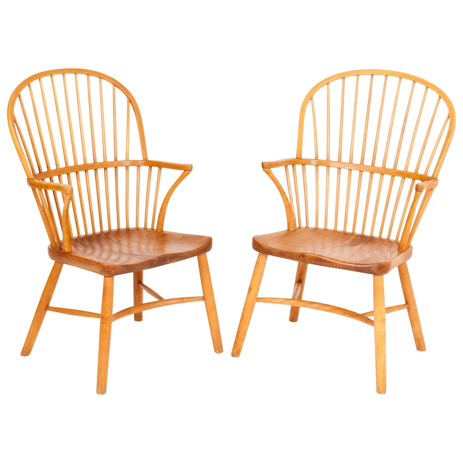 scandinavian modern windsor chairs 6 for sale at 1stdibs
