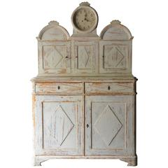 Rare Swedish Gustavian Clock Cupboard