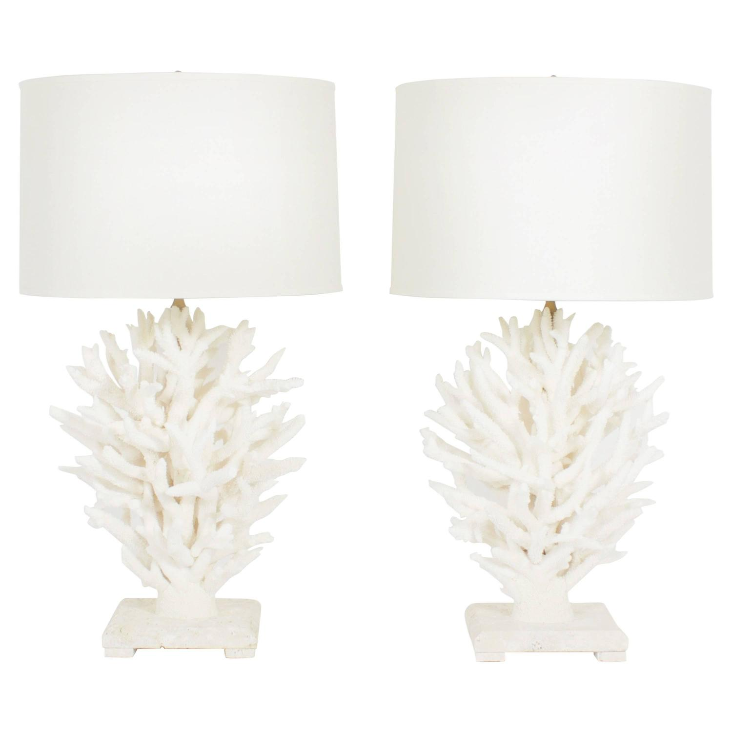 of sculptural staghorn white coral table lamps for sale at 1stdibs. Black Bedroom Furniture Sets. Home Design Ideas