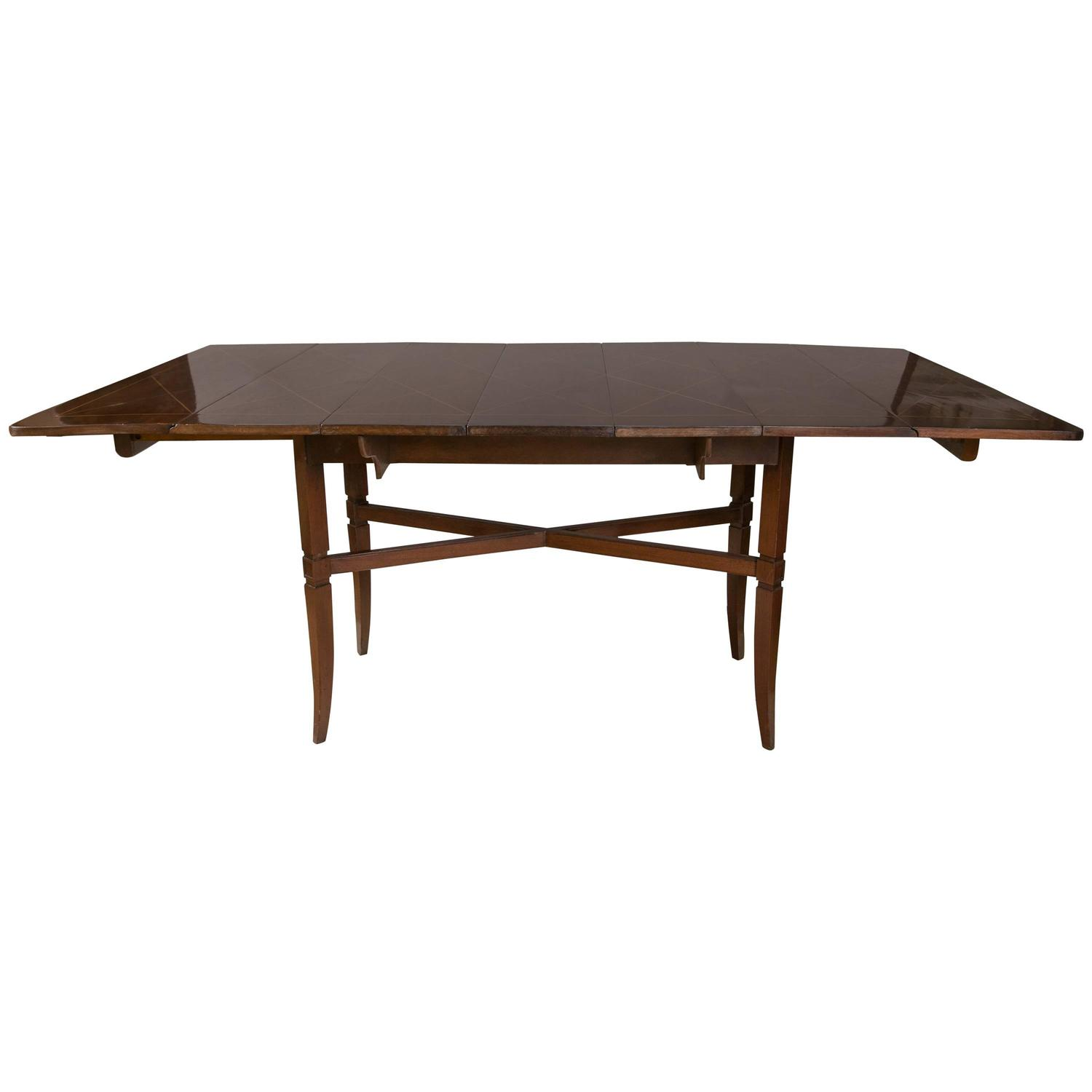 modern for tommi parzinger drop side dining table for sale at 1stdibs