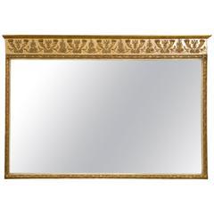 Schmieg & Kotzian Gilt Gold Hand-Carved Rectangular Mirror
