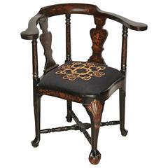English Chinoiserie Decorated Corner Chair