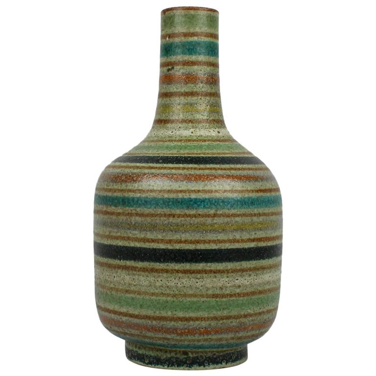 Large Mid-Century Modern Thickly Glazed Bottle-Form Striped Italian on jugs for sale, statuary for sale, vintage bowls for sale, spoons for sale, figurines for sale, silver for sale, earrings for sale, plants for sale, storage for sale, coins for sale, stencils for sale, stationery for sale, tiles for sale, pedestals for sale, glass vase sale, candlesticks for sale, decorative teapots for sale, pewter dragons for sale, home decor for sale, glass for sale,