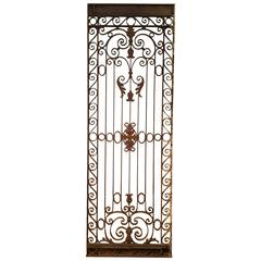 Large French Wrought Iron Gate, circa 1880