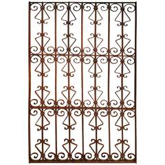 Large Wrought Iron Grille or Gate