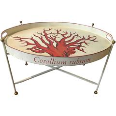 Tole Corallium Rubrum Campaign Table