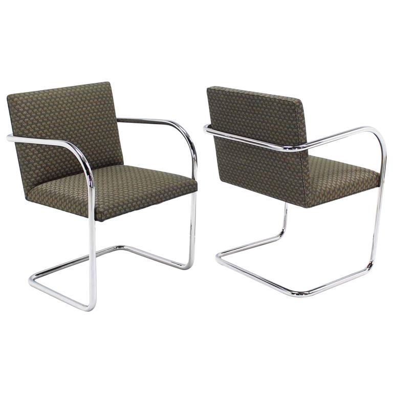 Pair of Mies Brno Side office dining  Chairs for Knoll