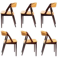 Kai Kristiansen Set of Six Rosewood Chairs