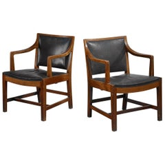 Pair of Kay Fisker Attributed Danish Armchairs, 1940s-1950s