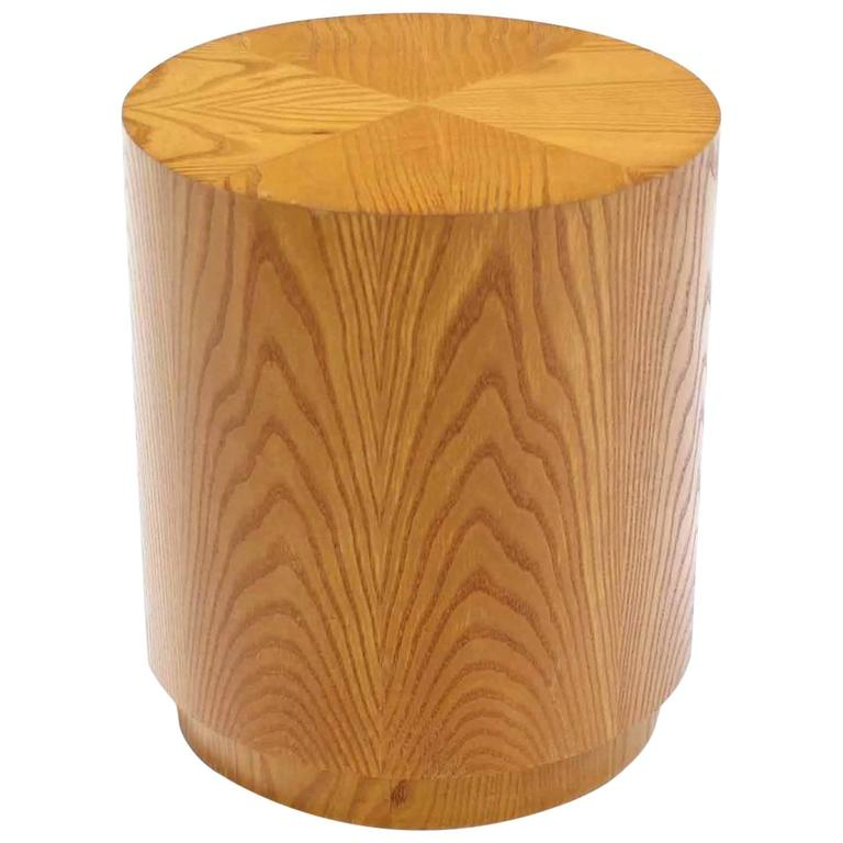 Round Cylinder Drum Shaped Side End Table For Sale At 1stdibs