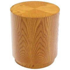 Round Cylinder Drum Shaped Side End Table