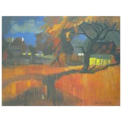 Untitled Landscape Painting by Gacy Ofkja