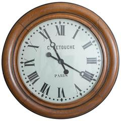 19th Century Detouche Paris Railroad Clock, France, circa 1890