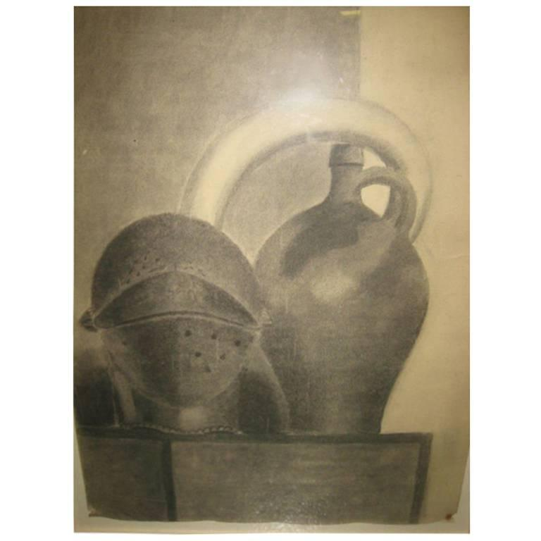 Drawing Still Life: Jug and Helmet by Beeldens, 1935 1